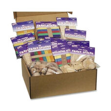 Chenille Kraft Company Wood Crafts Classroom Activities Kit - 2100 Pieces