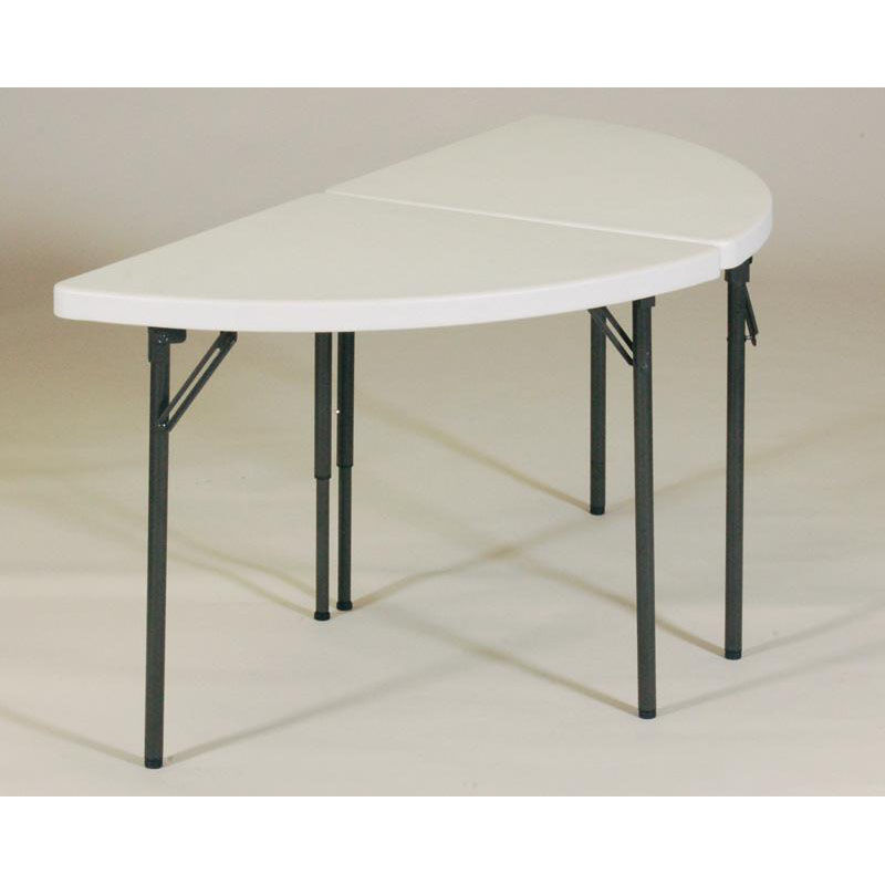 ... Our Blow Molded Plastic Top Half Moon Table Grouping   30u0027u0027D X