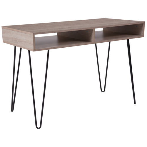 Our Franklin Oak Wood Grain Finish Computer Table with Black Metal Legs is on sale now.