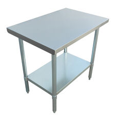 """Adcraft WT-2436-E 24""""x36"""" Stainless Steel Work Table"""