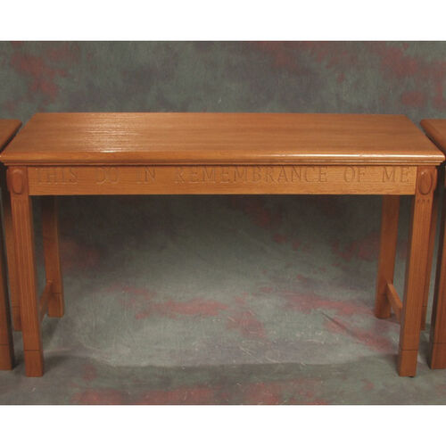 Our Stained Red Oak Open Communion Table is on sale now.