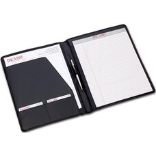 Standard Lightweight Design Leather Portfolio - Black