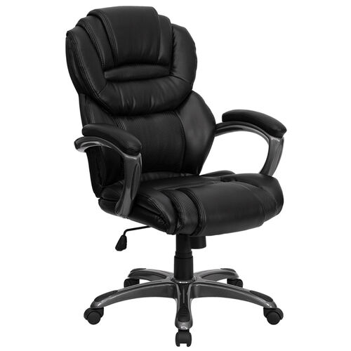 Our High Back Executive Swivel Ergonomic Office Chair with Accent Layered Seat and Back and Padded Arms is on sale now.
