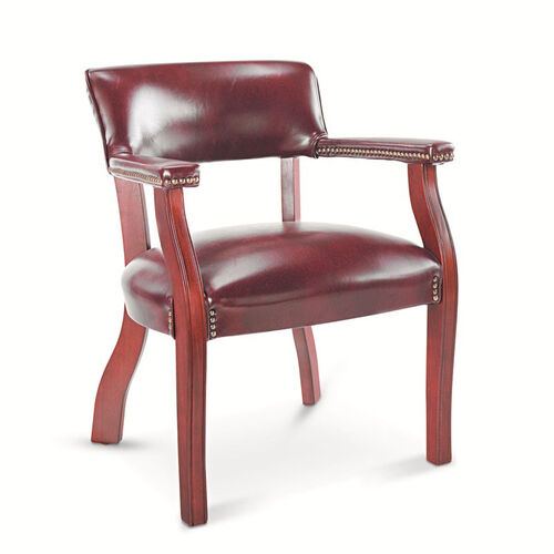 Our Alera® Traditional Series Guest Arm Chair - Mahogany Finish/Oxblood Vinyl is on sale now.