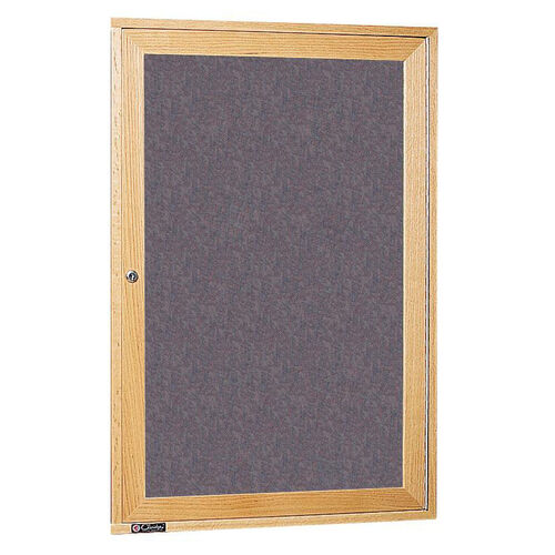 Our 3070 Series Wooden Frame Bulletin Board Cabinet with 1 Locking Tempered Glass Door - 18