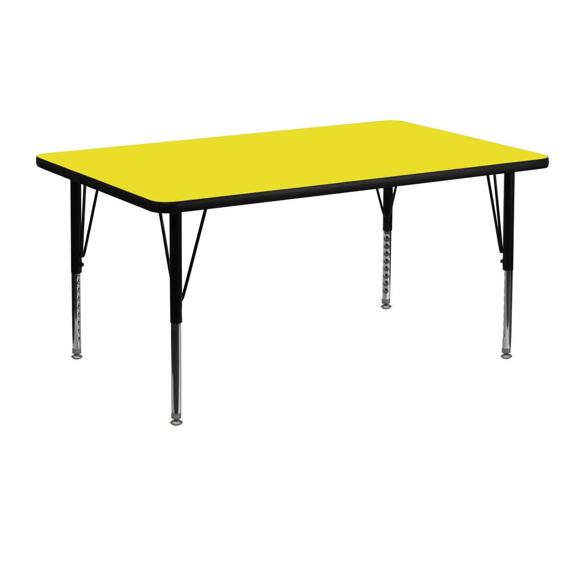 24''W X 48''L Rectangular Yellow HP Laminate Activity