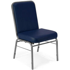 Comfort Class 300 lb. Capacity Anti-Microbial and Anti-Bacterial Vinyl Stack Chair - Navy