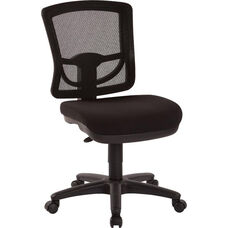 Pro-Line II ProGrid Mesh Back Armless Task Chair with Padded Seat - Coal