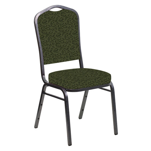Our Embroidered Crown Back Banquet Chair in Jasmine Fern Fabric - Silver Vein Frame is on sale now.