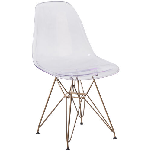 Our Elon Series Ghost Chair with Gold Metal Base is on sale now.