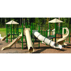 Galvanized Steel Tube Constructed Thomas Mega Series Play Center with Thermoplastic Coated Punch Steel Decks - 492