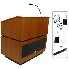Coventry Wireless 150 Watt Sound Multimedia Lectern - Cherry Finish - 30