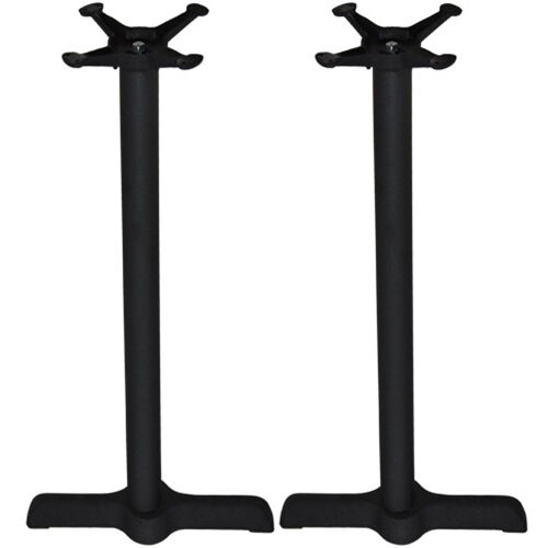 Set of 2 - Advantage 5x22-in. Bar Height Bar & Restaurant Table Bases