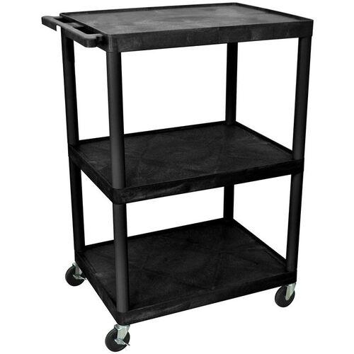 Our 3 Shelf High Open A/V Utility Cart - Black - 32