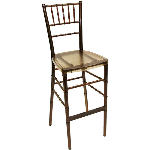 Our 1000 lb. Max Amber Crystal Resin Steel Core Chiavari Barstool is on sale now.