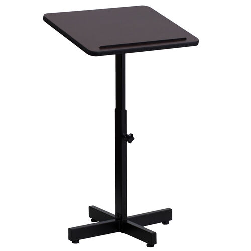 Our Adjustable Height Metal Lectern in Mahogany is on sale now.