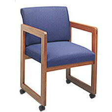 Classic Series Full Back Guest Chair with Sled Base and Casters