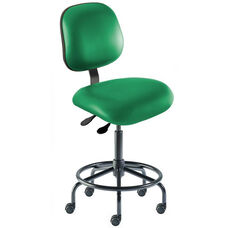 Quick Ship Elite Series Chair Ergonomic Seat and Tubular Steel Base - Medium Seat Height