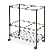 Lorell Mobile Filing Cart - 2 -Tier - Letter/Legal - 26