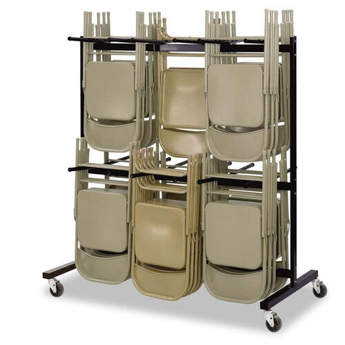 Our Safco® Two-Tier Chair Cart - 64-1/2w x 33-1/2d x 70-1/4h - Black is on sale now.