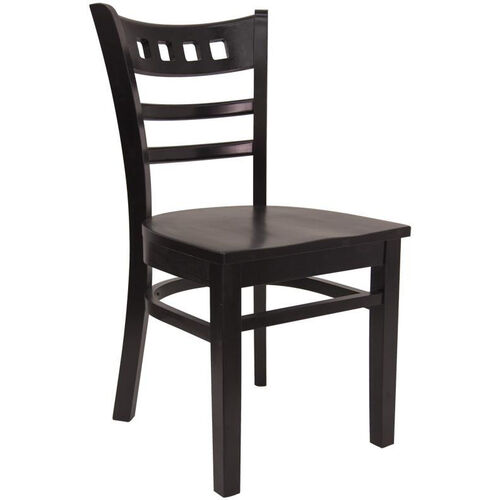 Our American Back Chair with Solid Wood Saddle Seat - Black is on sale now.