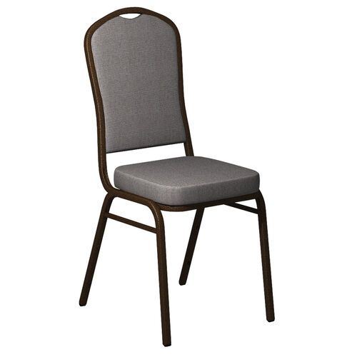 Our Embroidered Crown Back Banquet Chair in Shire Greystone Fabric - Gold Vein Frame is on sale now.