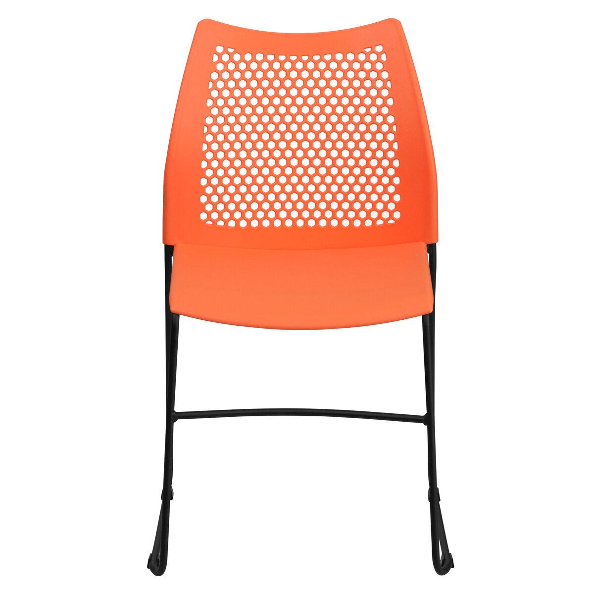 Orange Plastic Stack Chair Rut 498a Orange Gg