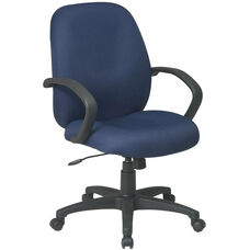 Work Smart Executive Mid Back Managers Chair with C style Arms