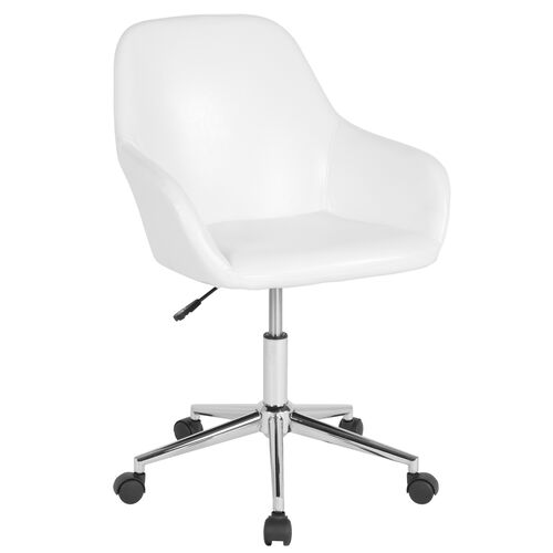 Our Cortana Home and Office Mid-Back Chair in White LeatherSoft is on sale now.