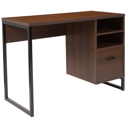Our Northbrook Rustic Coffee Wood Grain Finish Computer Desk with Black Metal Frame is on sale now.