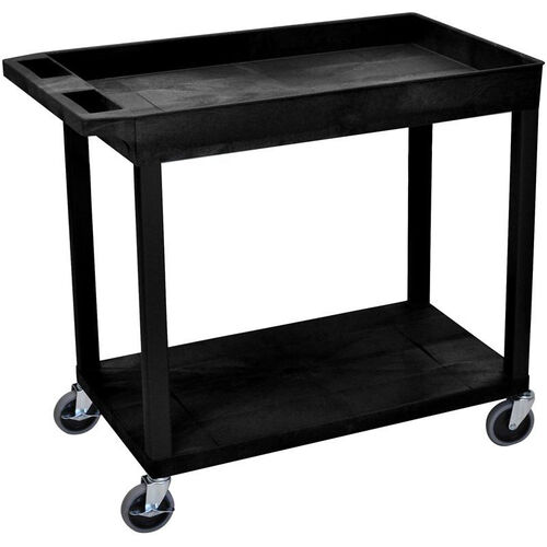 Our Molded Thermoplastic Resin 1 Tub/1 Flat Shelf Utility Cart with 4