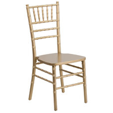 "HERCULES Series Gold Wood Chiavari Chair with <span style=""color:#0000CD;"">Free </span> Cushion"