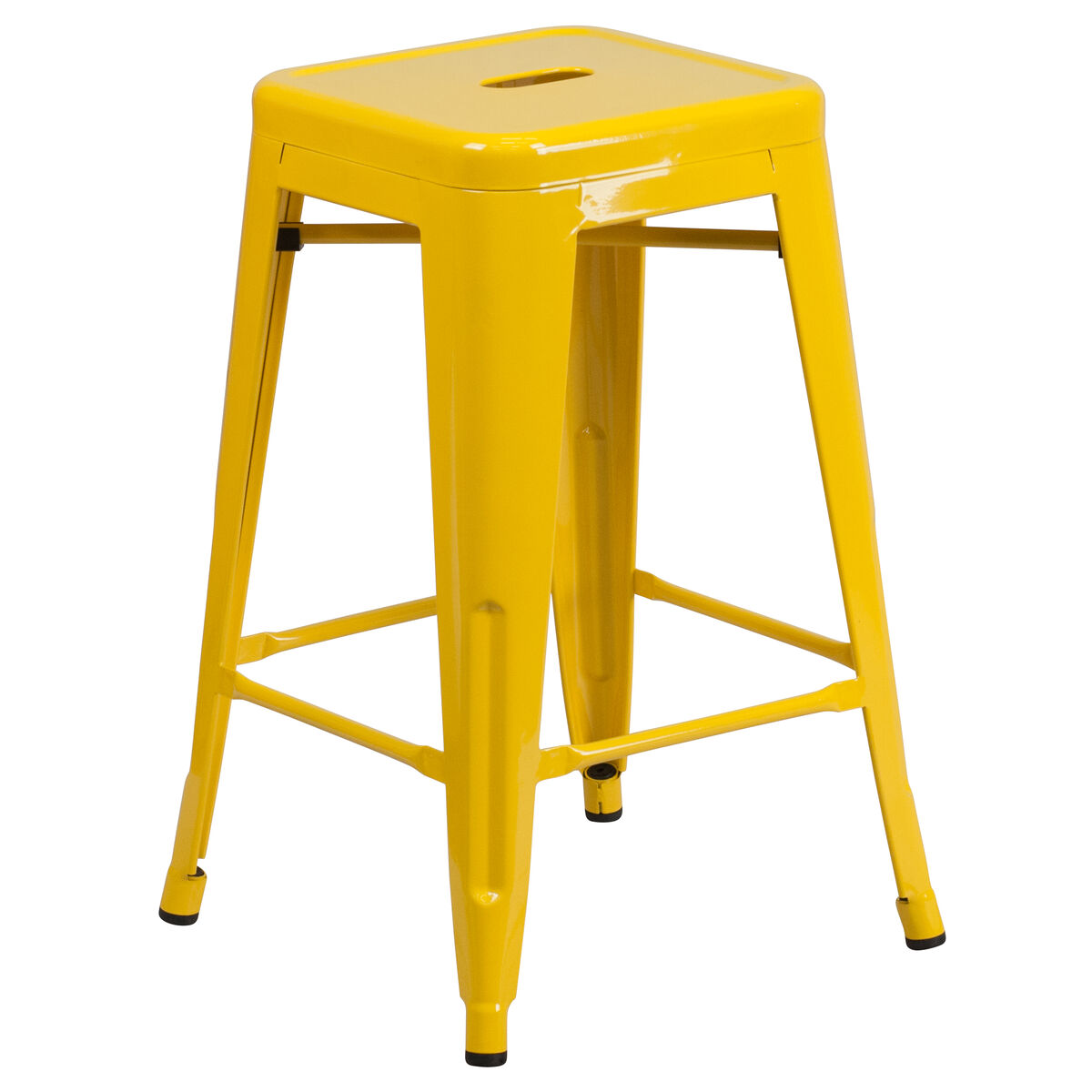 24 Quot Yell No Back Metal Stool Ch 31320 24 Yl Gg