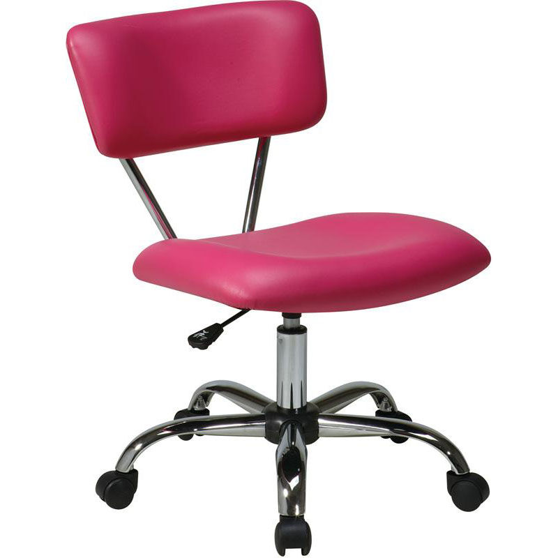 Charmant Ave Six Vista Vinyl Task Chair With Chrome Finish Base And Casters   Pink