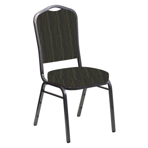Our Embroidered Crown Back Banquet Chair in Mystery Willow Fabric - Silver Vein Frame is on sale now.
