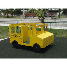 Polyethylene Constructed Four Passenger School Bus Spring Rider with Two Springs Underneath - 48