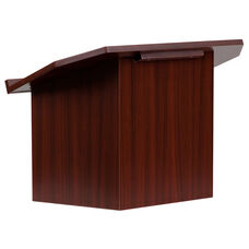 Foldable Tabletop Lectern in Mahogany