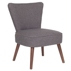 HERCULES Holloway Series Gray Fabric Retro Chair