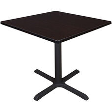 Cain 42'' Square Laminate Breakroom Table with PVC Edge - Walnut
