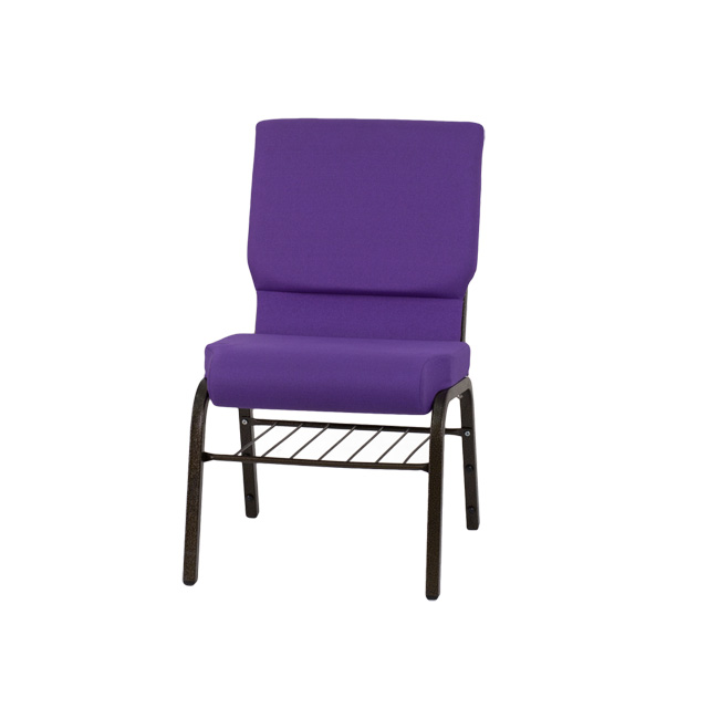 Hercules Series 18 5 W Church Chair In Purple Fabric With