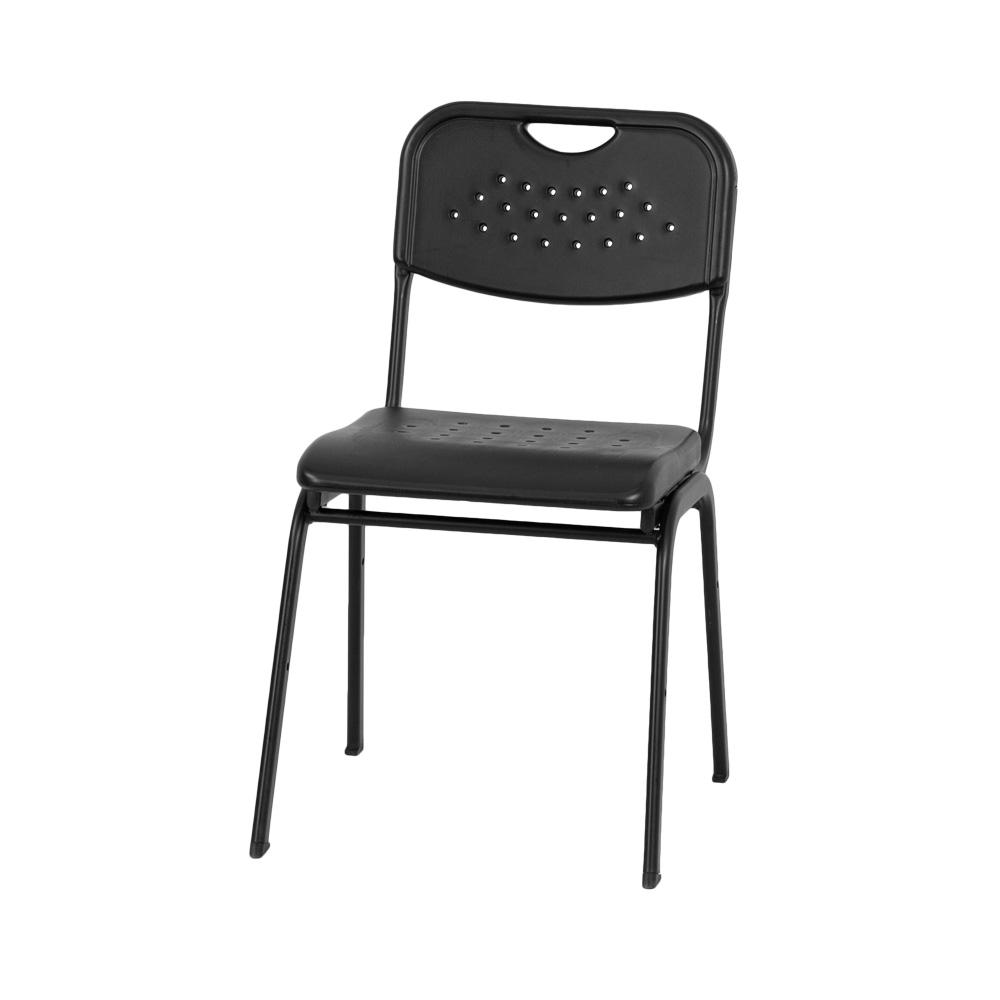 black plastic stack chair rut gk01 bk gg. Black Bedroom Furniture Sets. Home Design Ideas