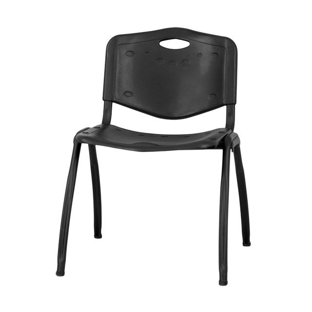 black plastic stack chair rut d01 bk gg. Black Bedroom Furniture Sets. Home Design Ideas