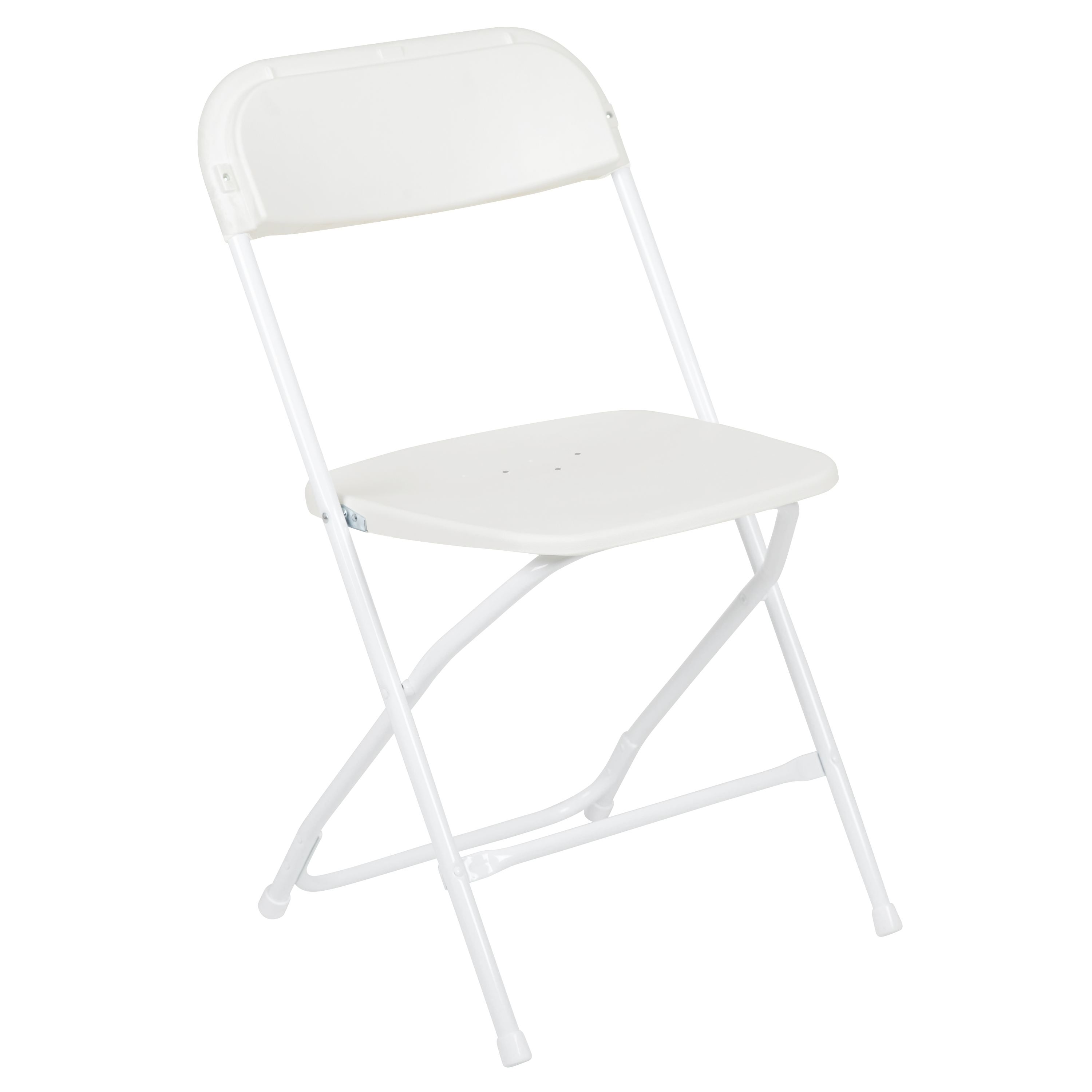 HERCULES Series 650 lb. Capacity Premium White Plastic Folding Chair
