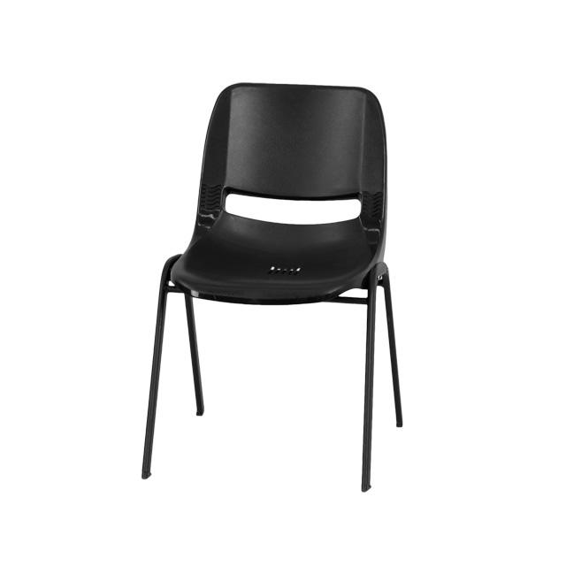 black plastic stack chair rut eo1 bk gg. Black Bedroom Furniture Sets. Home Design Ideas